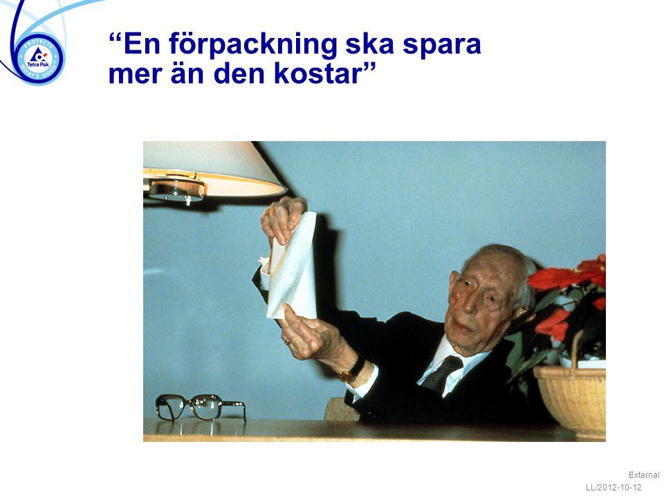 """""""En förpackning ska spara mer än den kostar"""" External LL/2012-10-12"""