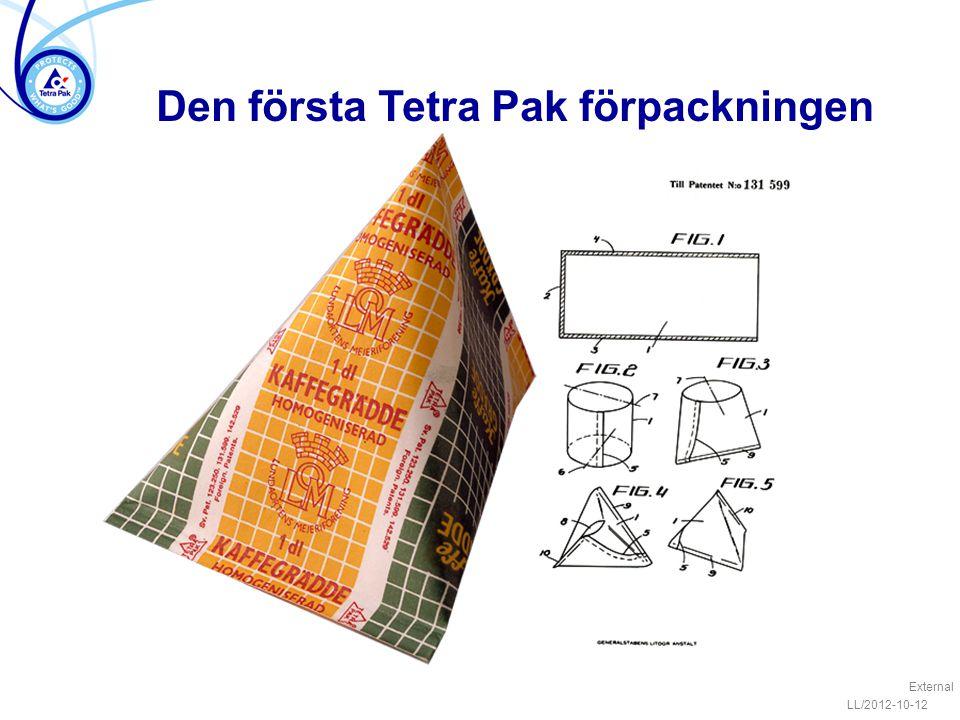 Den första Tetra Pak förpackningen External LL/2012-10-12