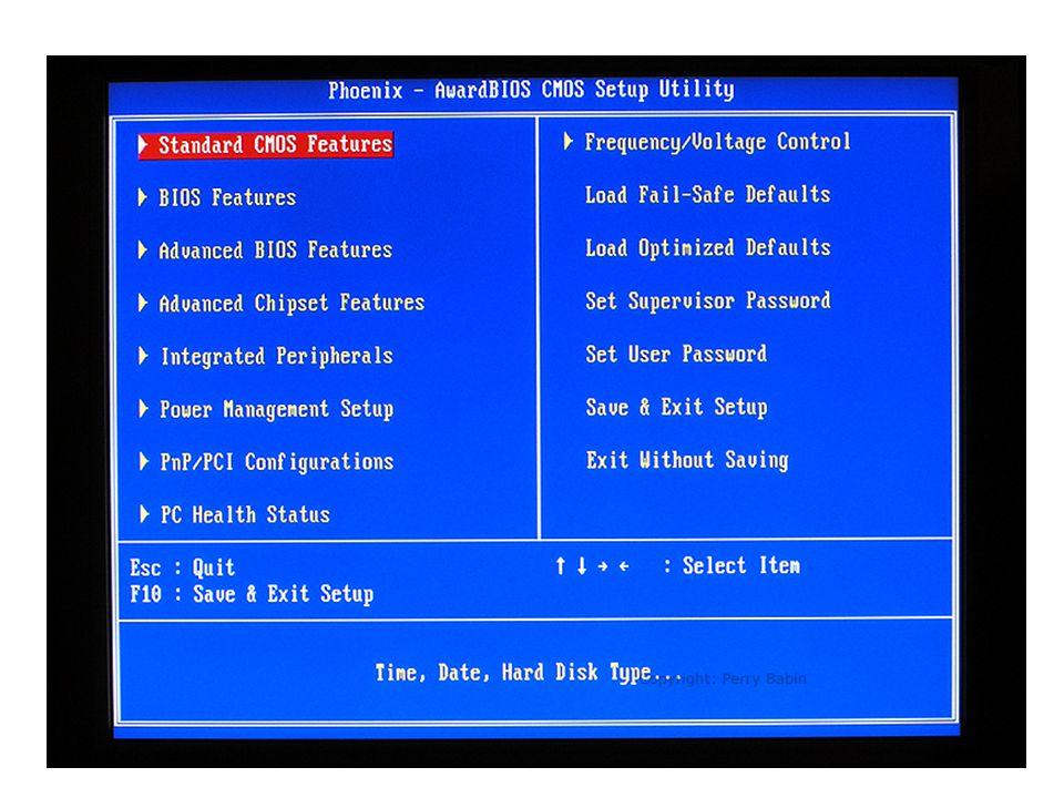 Uppgift Starta om datorn (eller start om den är avstängd) När datorn skriver ut loggan DELL och Precision workstation T3500 - Tryck på tangenten F2 Undersök vad man kan se / göra i BIOS Ändra inget!