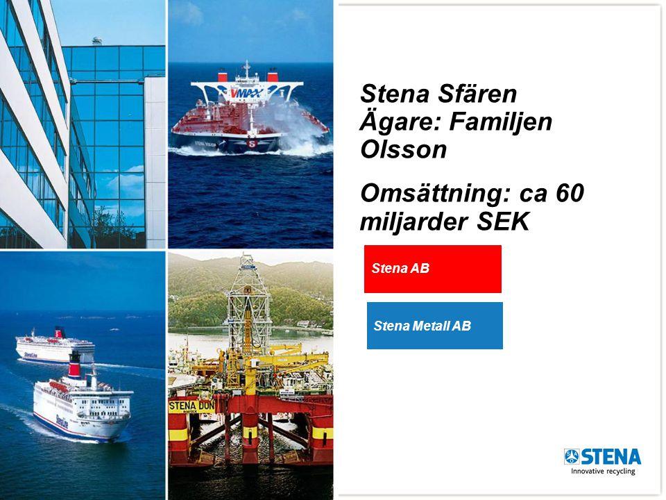 3 Stena Metall AB Återvinningsbolagen Stena Technoworld, WEEE Stena Aluminium AB Stena Recycling, AB, A/S, AS, OY, Sp.