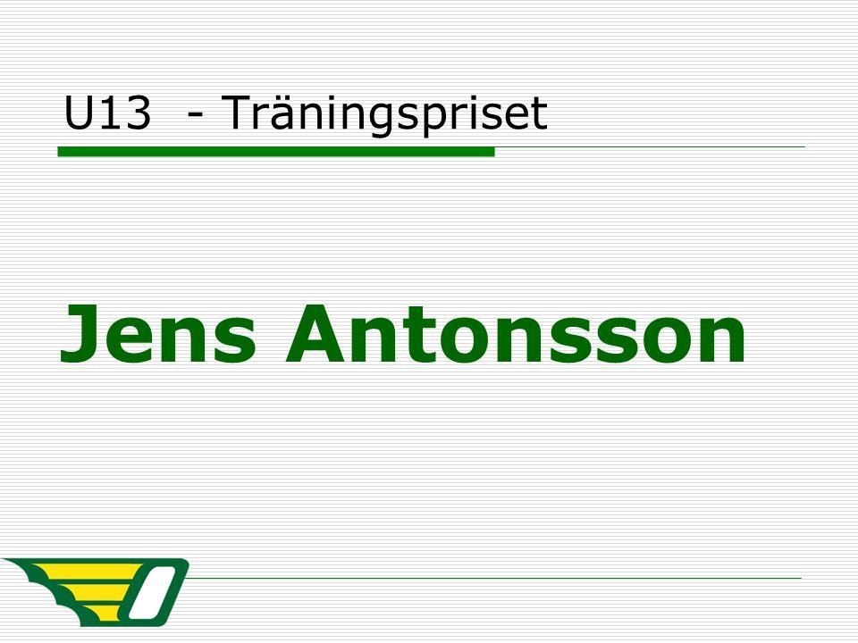U13 - Träningspriset Jens Antonsson