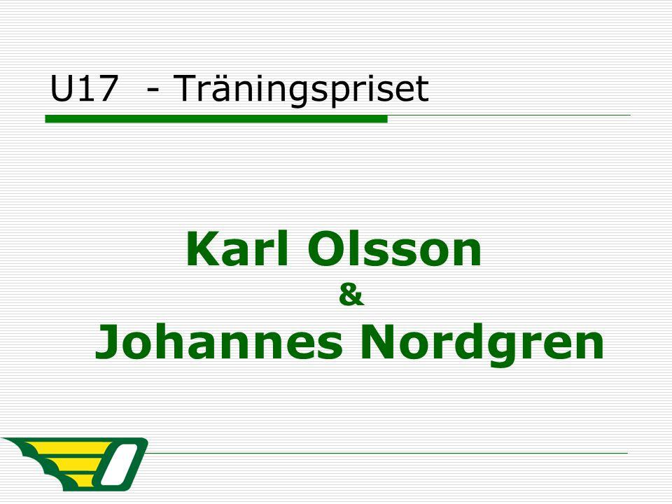 U17 - Träningspriset Karl Olsson & Johannes Nordgren