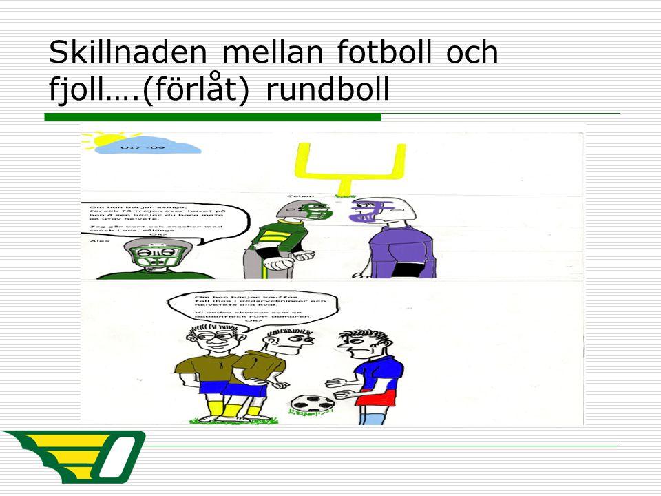 Skillnaden mellan fotboll och fjoll….(förlåt) rundboll