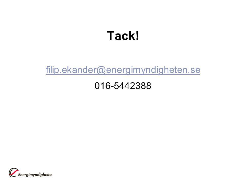 Tack! filip.ekander@energimyndigheten.se 016-5442388