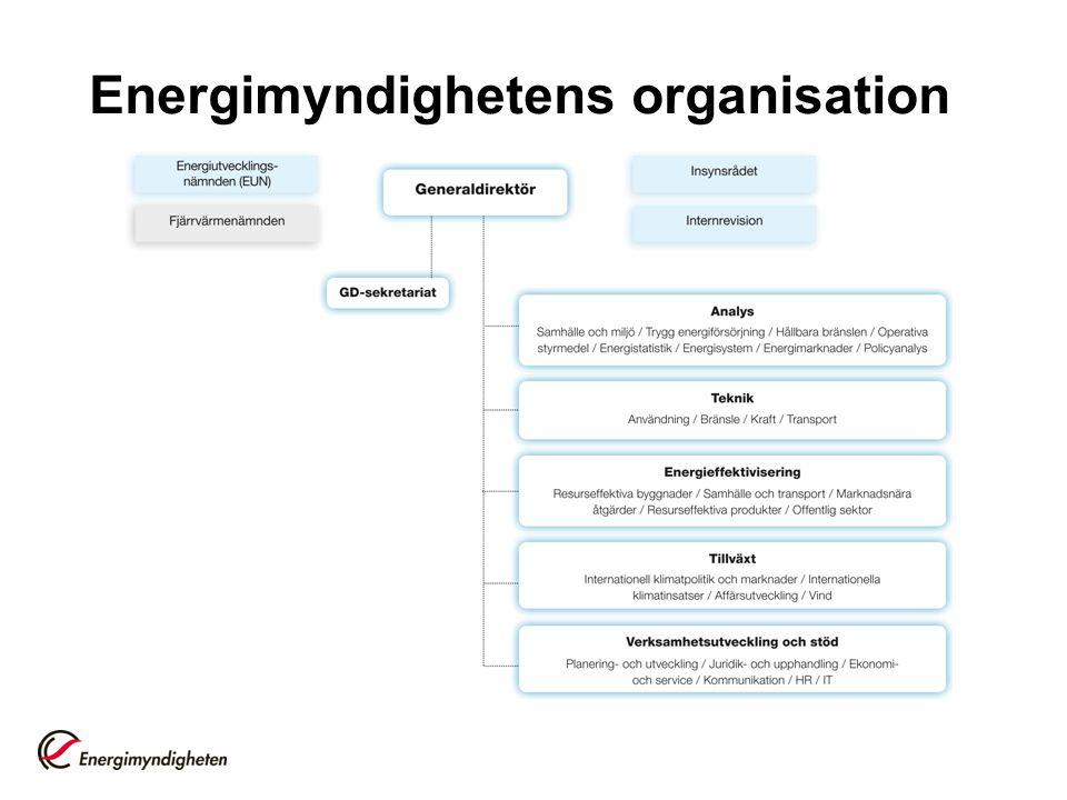Information och kommunikation Privat och offentlig samverkan Lokal, regional, nationell och internationell samverkan AnalysTeknik Energi- effektivisering Tillväxt Vision: Ett hållbart energisystem Energimyndighetens verksamhet