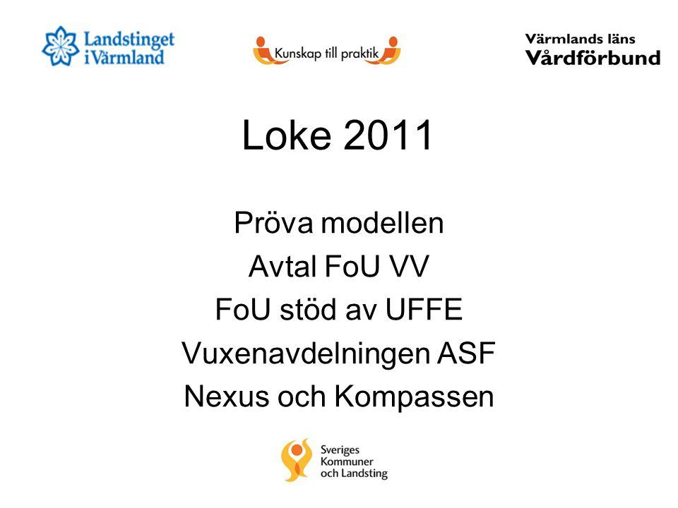 Loke 2011 Pröva modellen Avtal FoU VV FoU stöd av UFFE Vuxenavdelningen ASF Nexus och Kompassen
