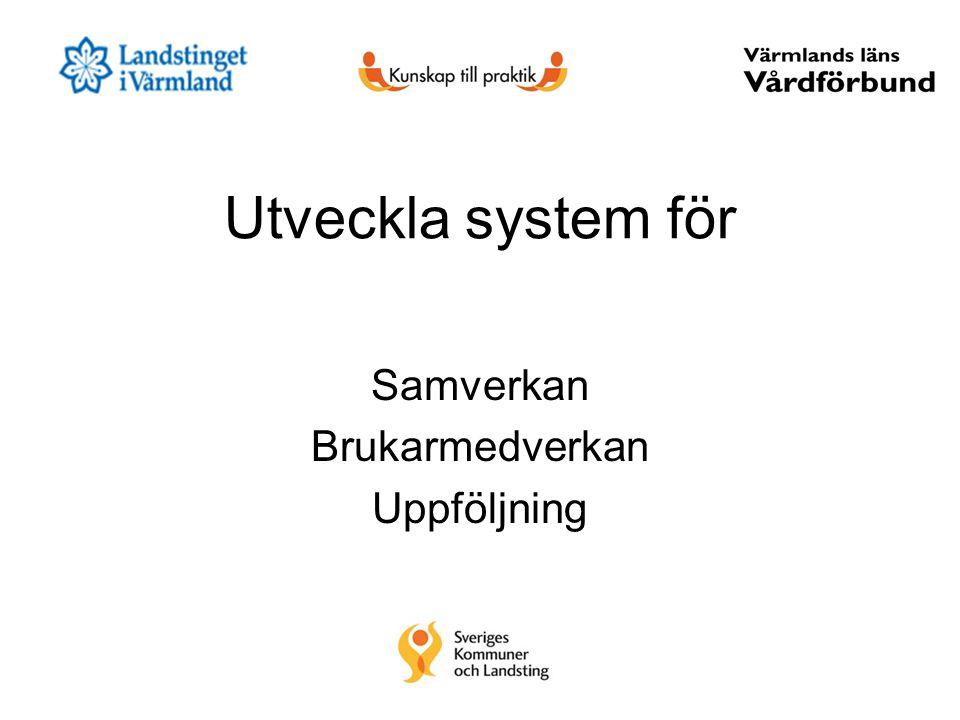 Utveckla system för Samverkan Brukarmedverkan Uppföljning