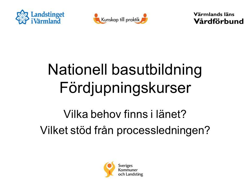 Nationell basutbildning Fördjupningskurser Vilka behov finns i länet.