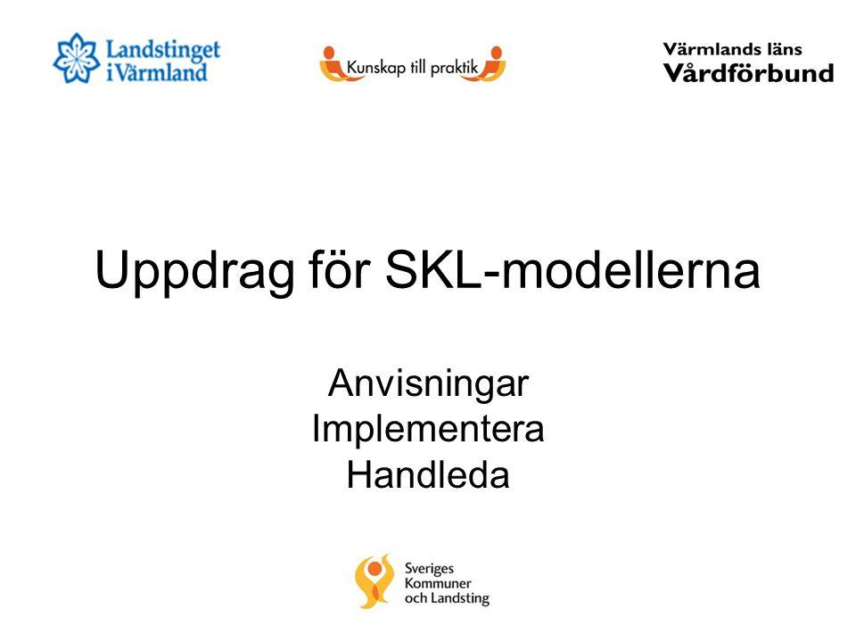 Uppdrag för SKL-modellerna Anvisningar Implementera Handleda