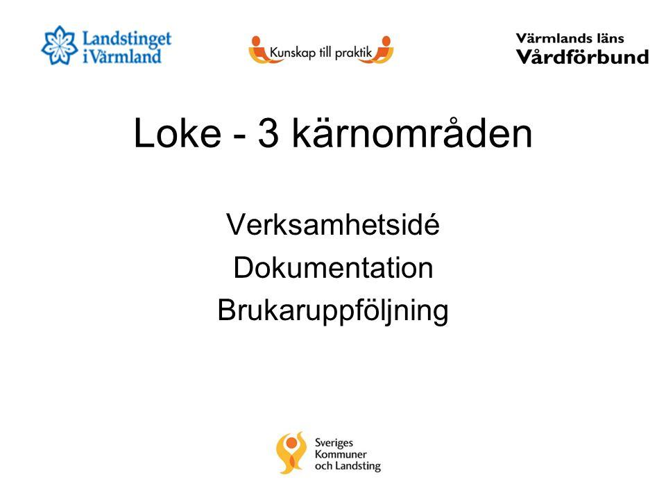 Loke - 3 kärnområden Verksamhetsidé Dokumentation Brukaruppföljning