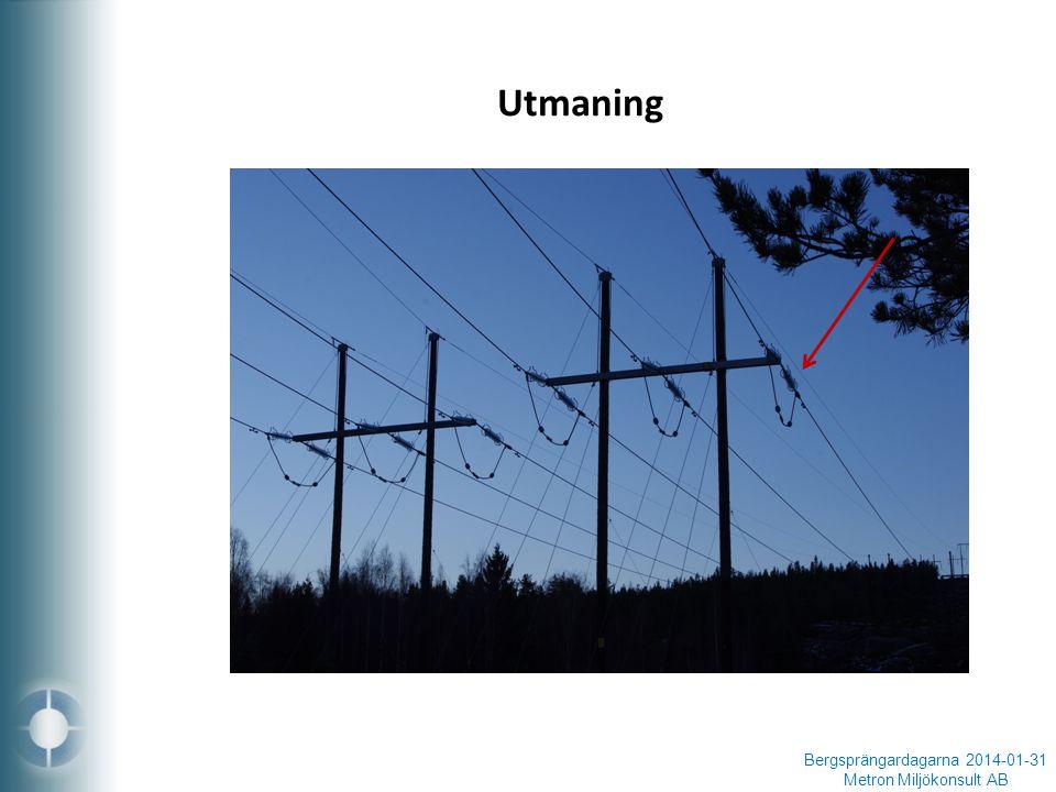 Utmaning Bergsprängardagarna 2014-01-31 Metron Miljökonsult AB