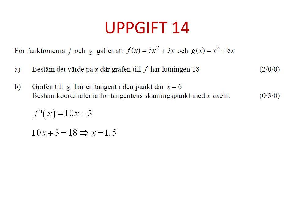 UPPGIFT 14