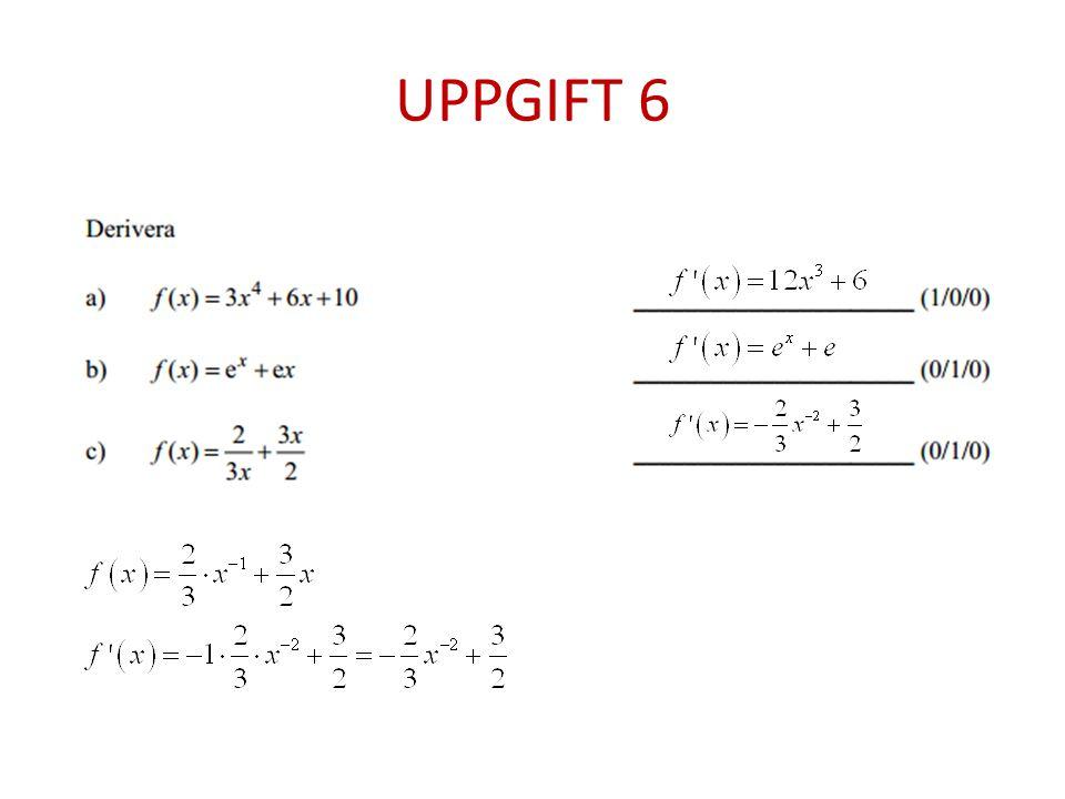 UPPGIFT 7 Varför är C rätt svar?