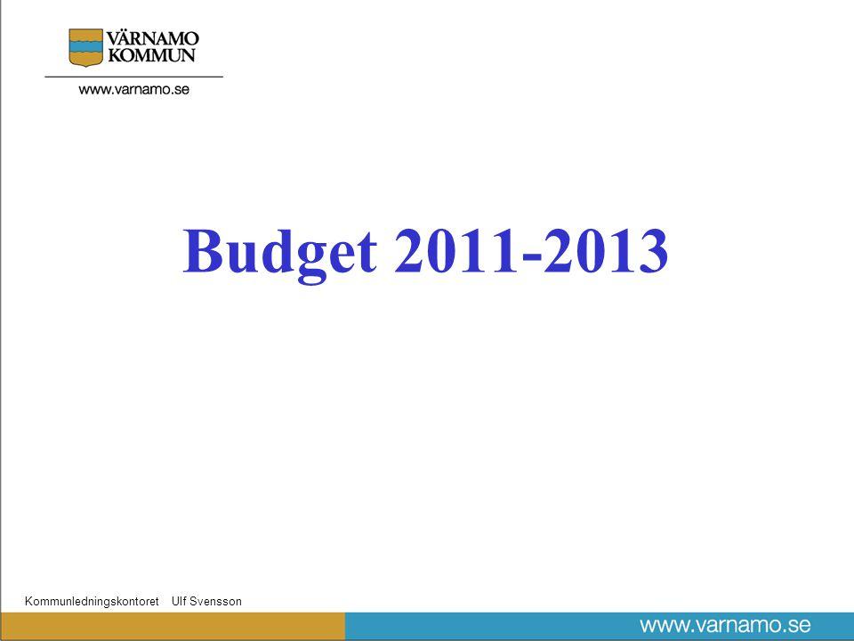 Kommunledningskontoret Ulf Svensson Budget 2011-2013