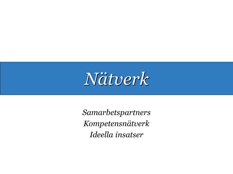 Samarbetspartners Kompetensnätverk Ideella insatser Nätverk