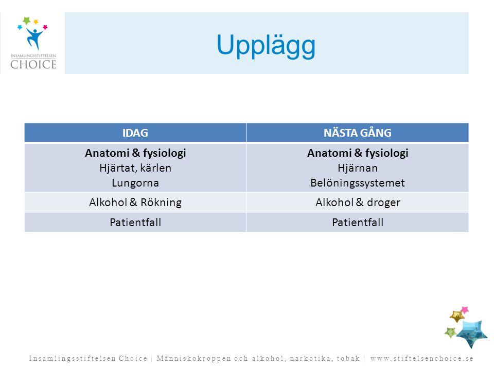 Insamlingsstiftelsen Choice   Människokroppen och alkohol, narkotika, tobak   www.stiftelsenchoice.se