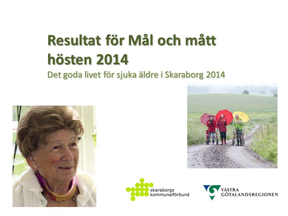Resultat för Mål och mått hösten 2014 Det goda livet för sjuka äldre i Skaraborg 2014