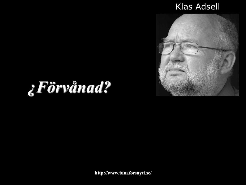 ¿Förvånad? Klas Adsell 2015-01-1213http://www.tunaforsnytt.se/