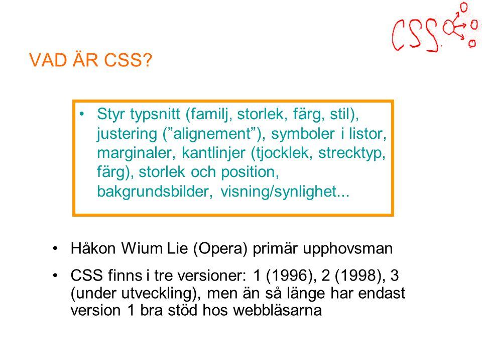 VAD ÄR CSS.