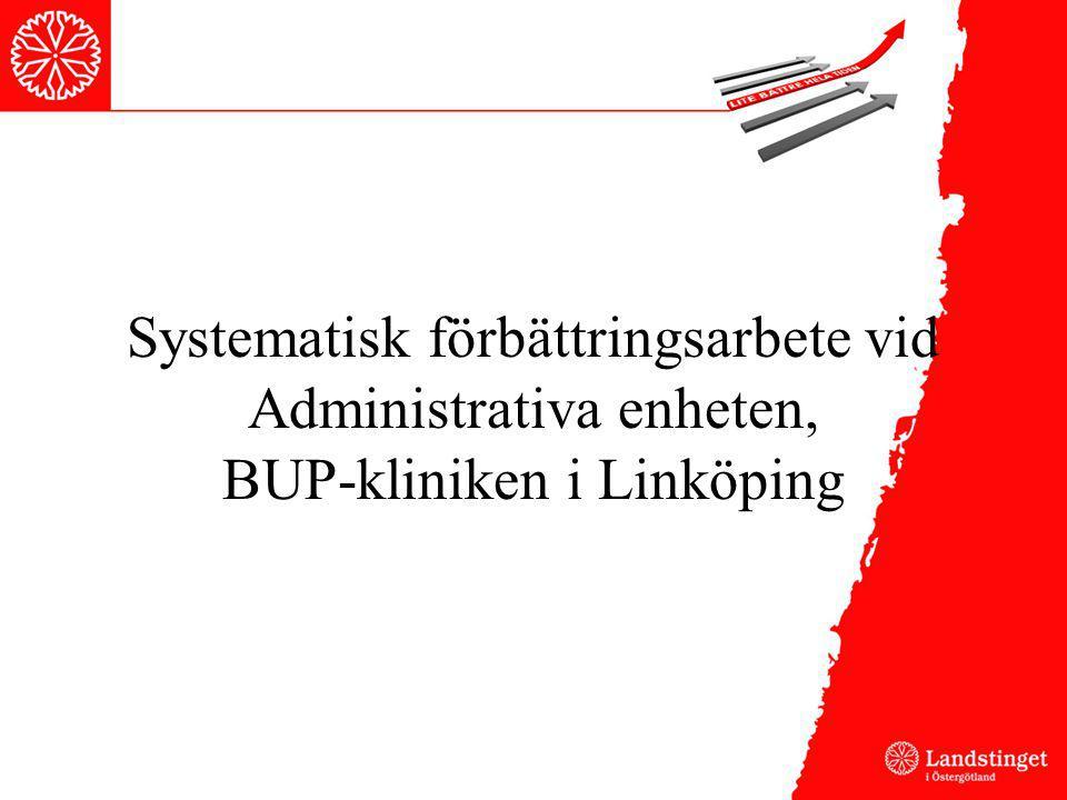 Systematisk förbättringsarbete vid Administrativa enheten, BUP-kliniken i Linköping