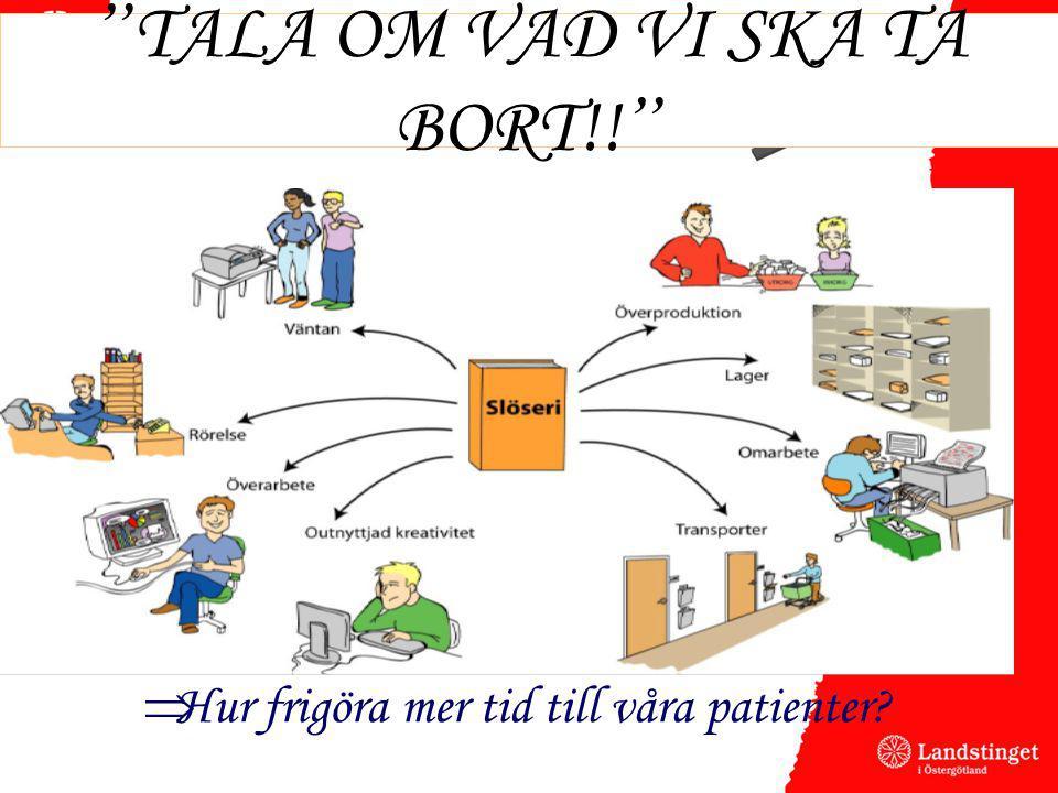 """"""" TALA OM VAD VI SKA TA BORT!! """"  Hur frigöra mer tid till våra patienter?"""