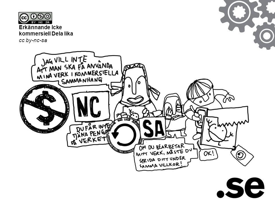 Erkännande Icke kommersiell Dela lika cc by-nc-sa
