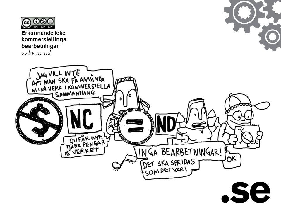 Erkännande Icke kommersiell Inga bearbetningar cc by-nc-nd