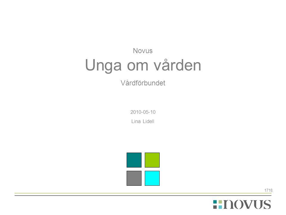 Novus Unga om vården Vårdförbundet 2010-05-10 Lina Lidell 1718