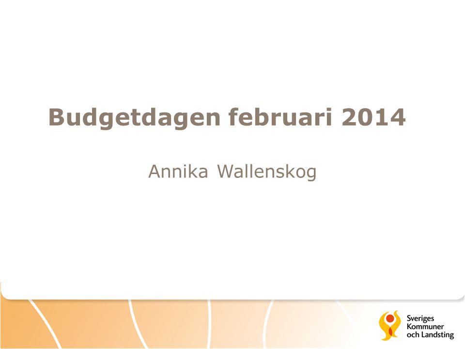 Budgetdagen februari 2014 Annika Wallenskog