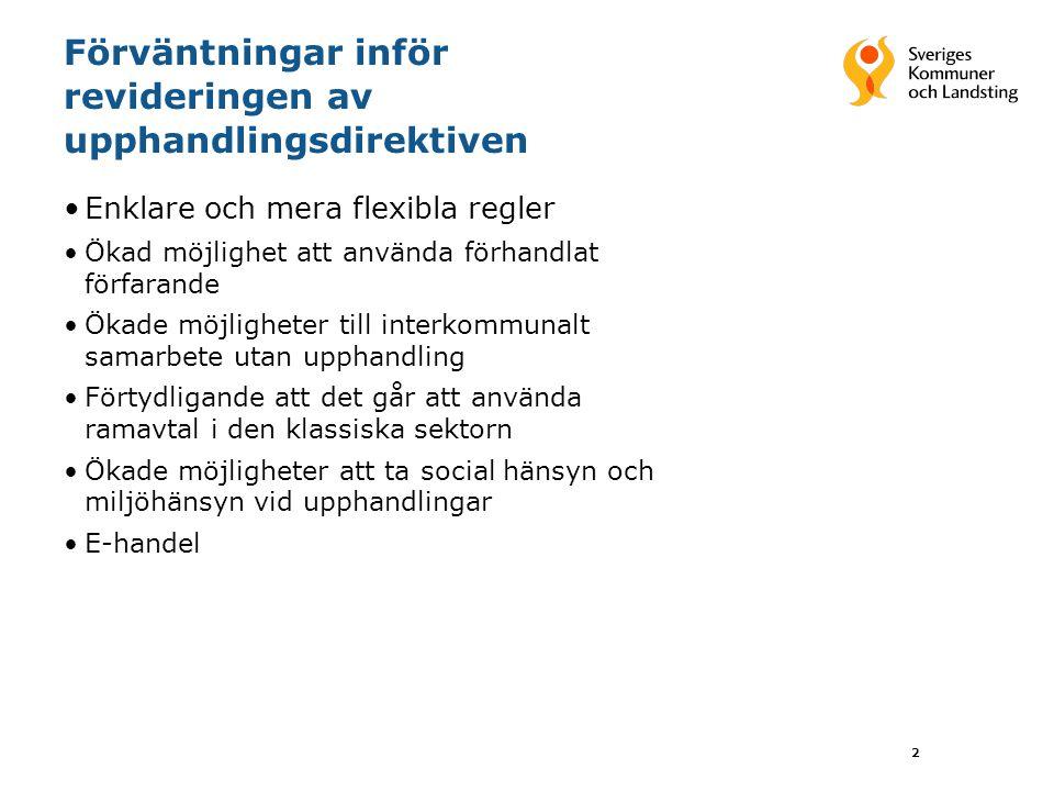 23 Konsekvenser för kommuner och landsting Fortfarande huvudmän för verksamheterna Större flexibilitet i förhållande till nya leverantörer Svårigheter att dimensionera den egna regin Svårt att fastställa optimal ersättningsnivå