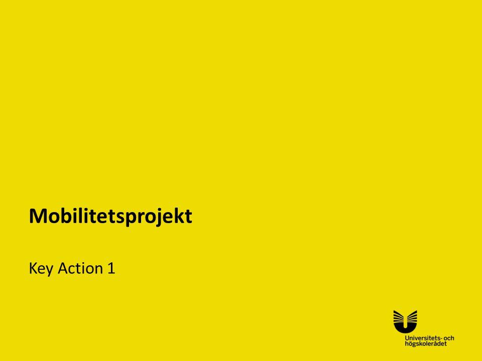 Sv Mobilitetsprojekt Key Action 1