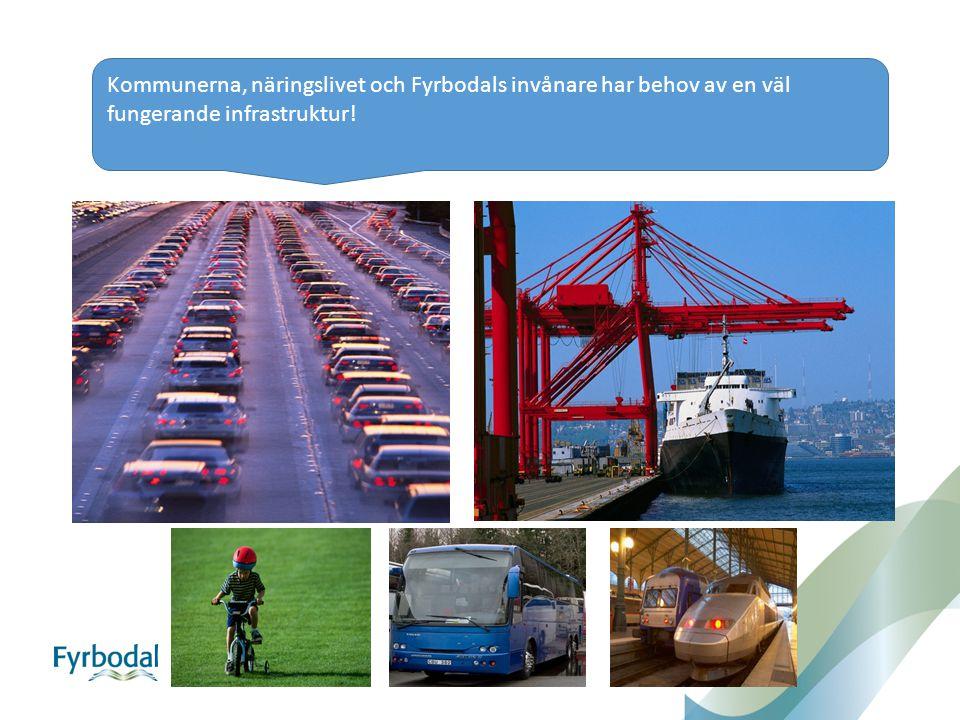 Kommunerna, näringslivet och Fyrbodals invånare har behov av en väl fungerande infrastruktur!