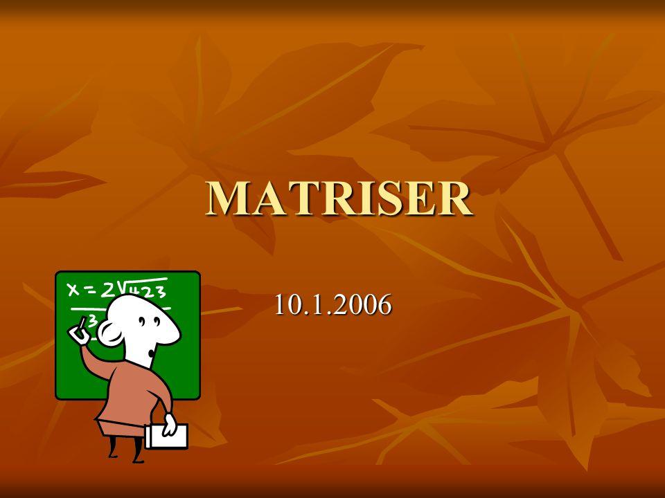 MATRISER MATRISER 10.1.2006