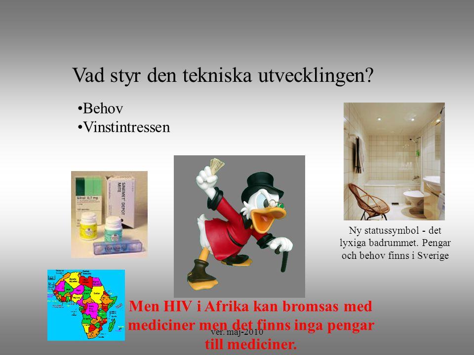 ver. maj-2010 Lyxigt SPA- badrum?. Vad styr den tekniska utvecklingen.