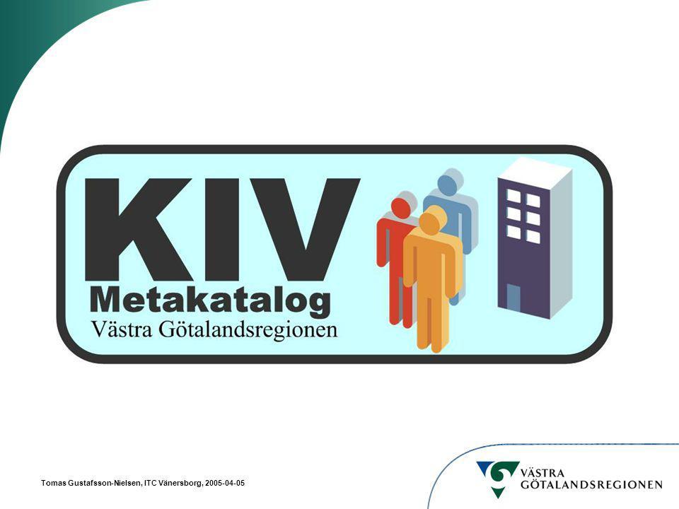 Tomas Gustafsson-Nielsen, ITC Vänersborg, 2005-04-05 Personal O = VGR Ou = PersonalOu = OrgOu = ImportOu = ResursOu = LimboOu = System CN = EVAAN Exempel på Attribut: Personid Förnamn Efternamn CN = MARSV CN = FRENI12 CN = TOMRI CN = anställning 1 Exempel på Attribut: Start- och Slutdatum Titel Ansvarsnummer (kostnadsställe) CN = anställning 2