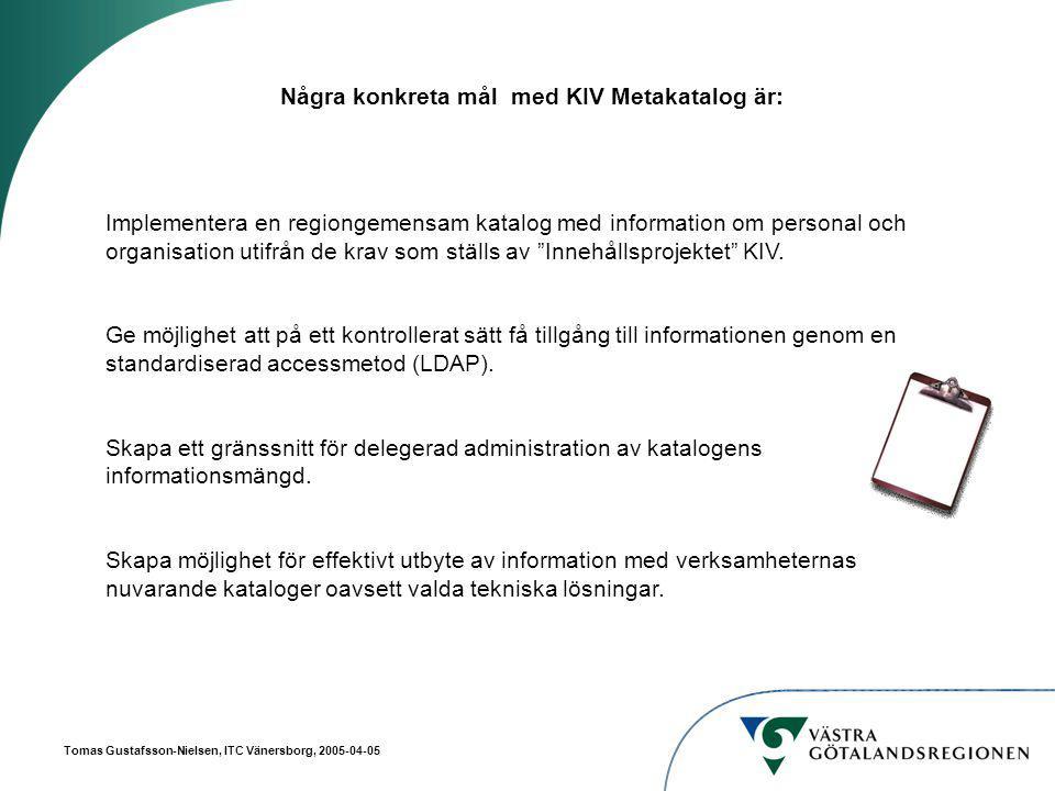 Tomas Gustafsson-Nielsen, ITC Vänersborg, 2005-04-05 Vad finns i katalogen?