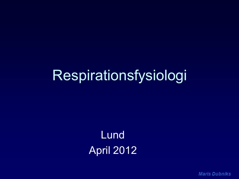 Maris Dubniks Lungperfusion