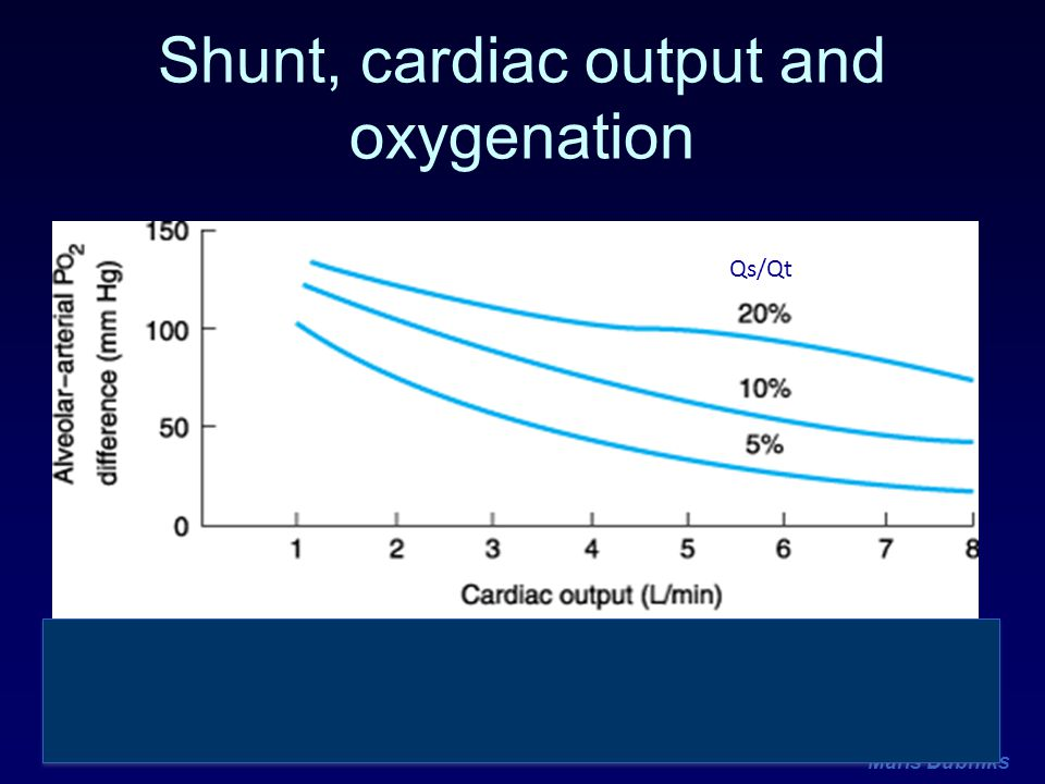 Maris Dubniks Shunt, cardiac output and oxygenation Qs/Qt