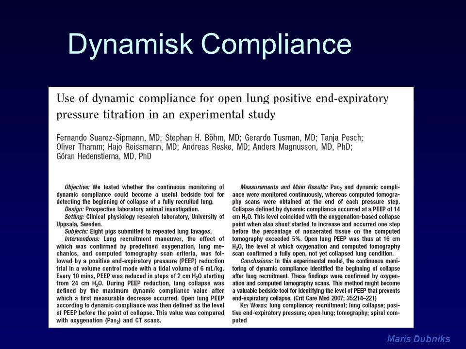 Maris Dubniks Dynamisk Compliance