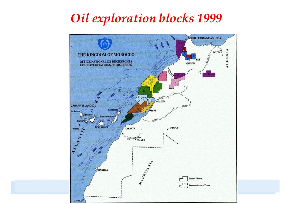 Oil exploration blocks 1999