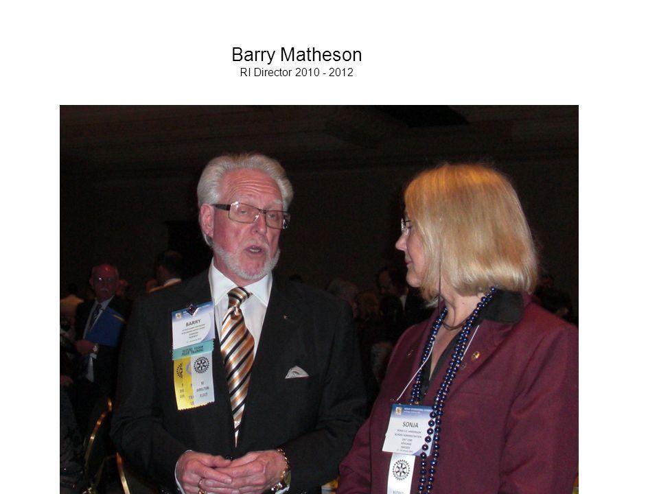 Barry Matheson RI Director 2010 - 2012