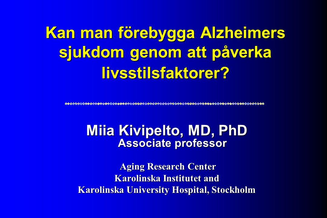 Kan man förebygga Alzheimers sjukdom genom att påverka livsstilsfaktorer.