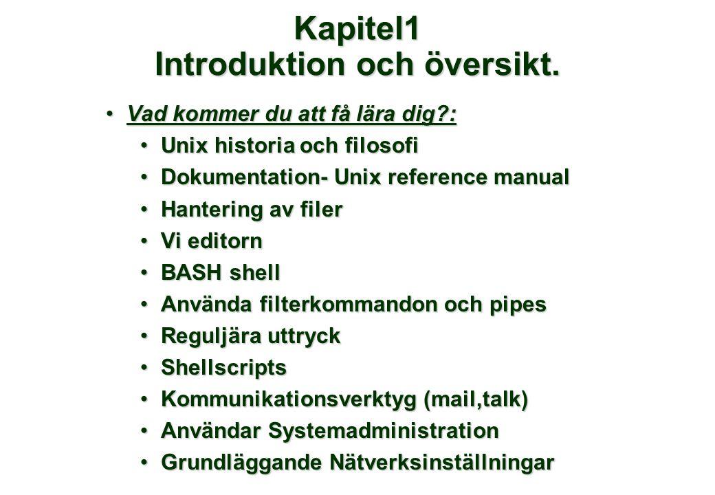 Kapitel1 Introduktion och översikt.