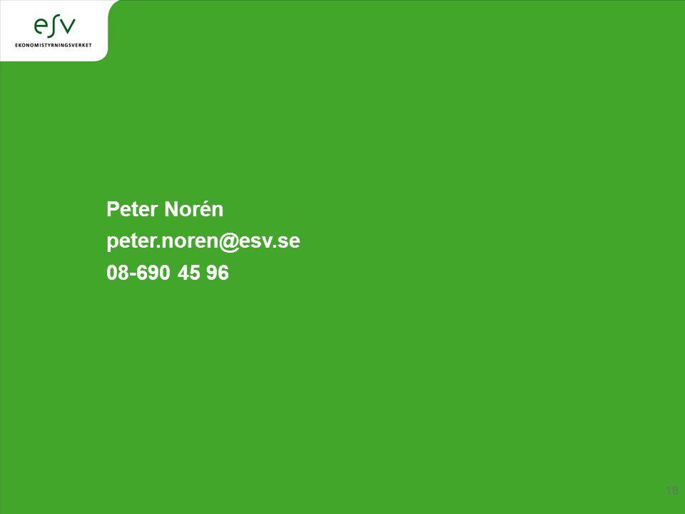 Peter Norén peter.noren@esv.se 08-690 45 96 18