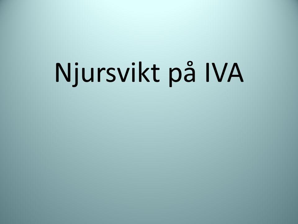 Njursvikt på IVA