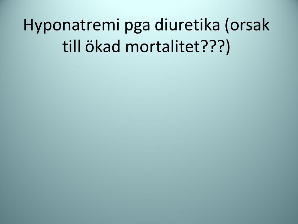 Hyponatremi pga diuretika (orsak till ökad mortalitet???)