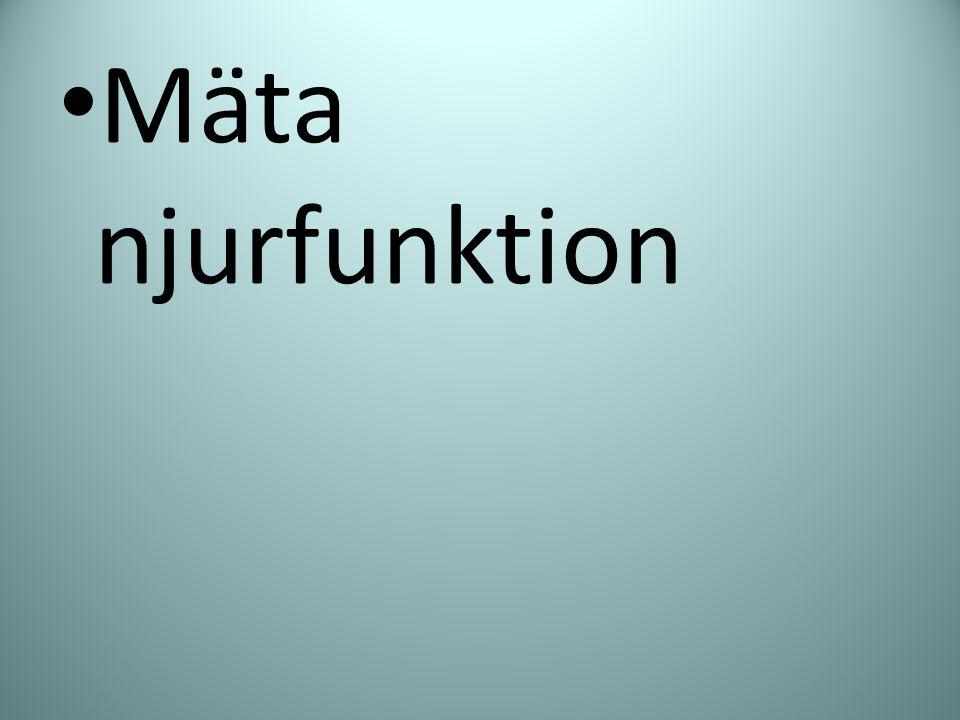 Mäta njurfunktion