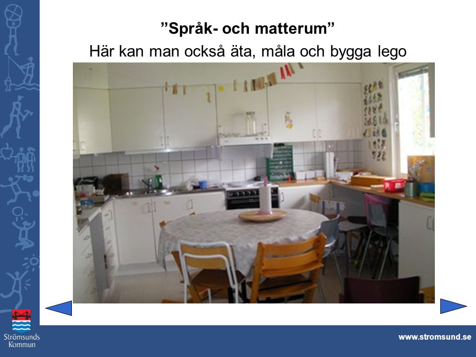 """""""Språk- och matterum"""" Här kan man också äta, måla och bygga lego www.stromsund.se"""