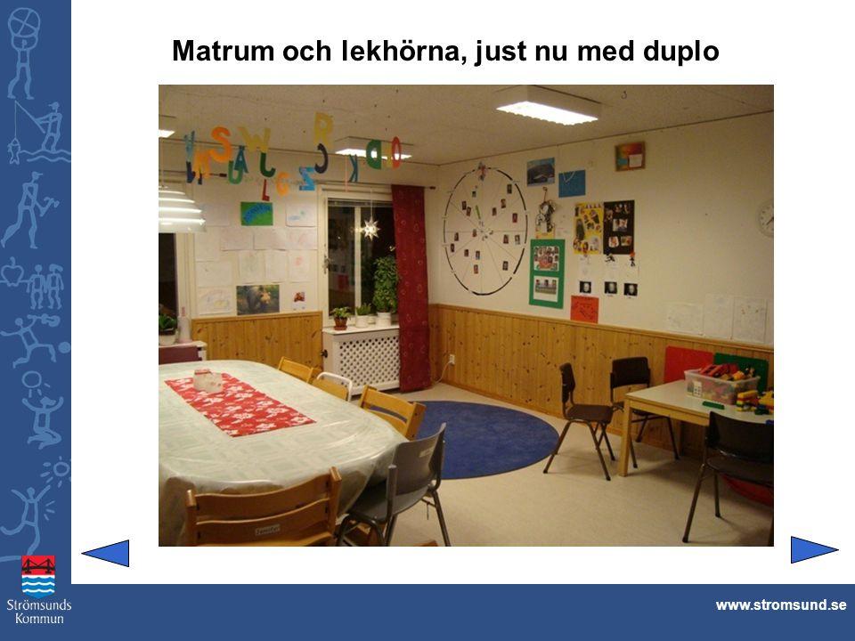 Matrum och lekhörna, just nu med duplo www.stromsund.se