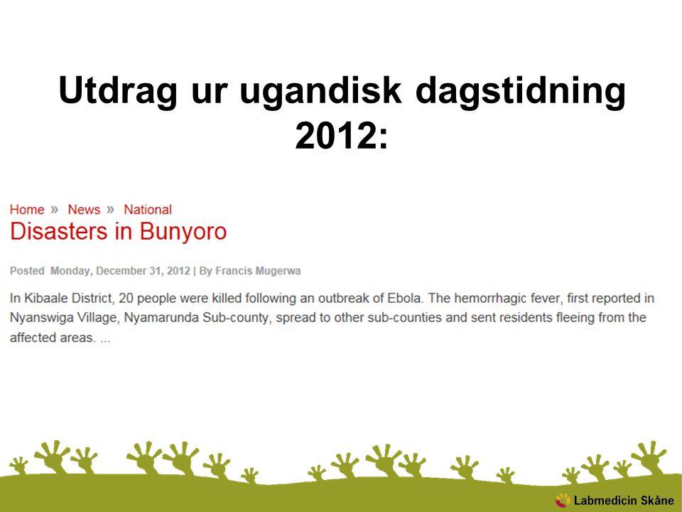 Utdrag ur ugandisk dagstidning 2012: